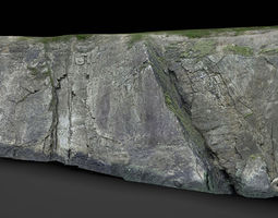 game-ready 3d asset rock cliff 2