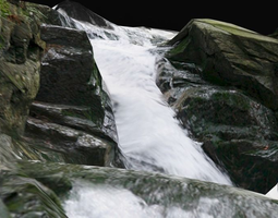 3D asset waterfall