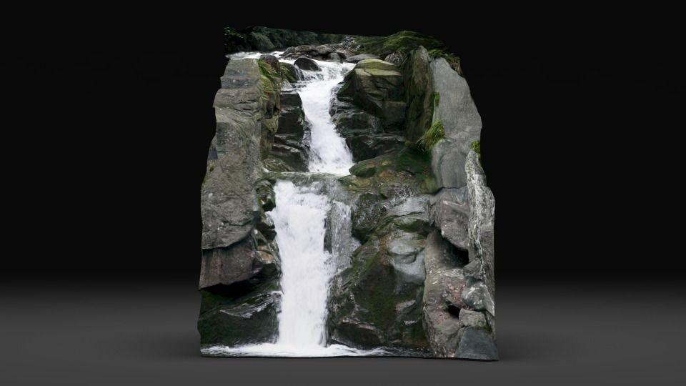 3D model waterfall VR / AR / low-poly OBJ FBX MA MB MTL ...