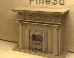 indoor fire place 3d