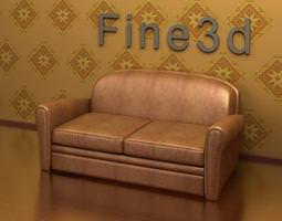 3D Leather Couch