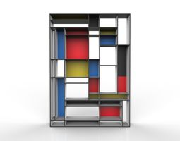 3D model Mondriaan Bookshelf