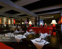 the stylish hotel restaurant design 03 3d