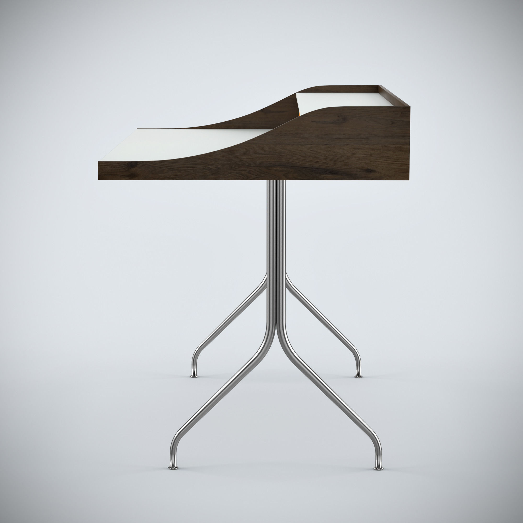 Charmant ... Nelson Swag Leg Desk 3d Model Max Obj 3ds Fbx Mtl 3 ...