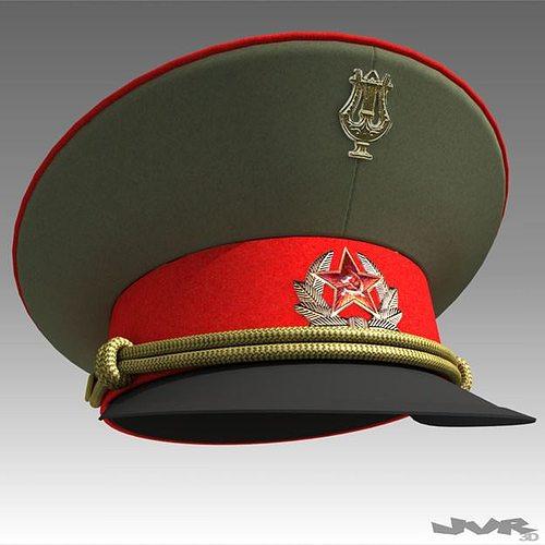 ussr visor cap 3d model max obj 3ds fbx mtl pdf 1