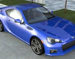 SUBARU BRZ STI 2012 3D model