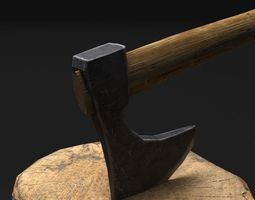 3D printable model Axes - Game ready
