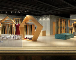 3d model fashion showroom store design 03
