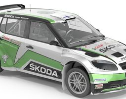 3d asset scoda fabia s2000 game-ready