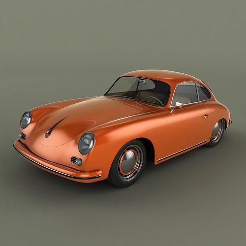 Porsche 356 3d Cgtrader