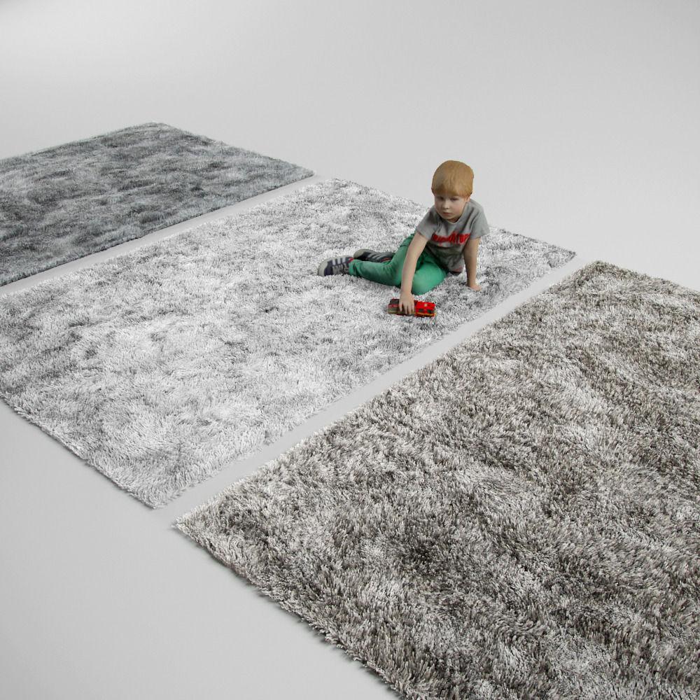 Fluffy Rug Carpet Model Max Obj Fbx Mtl 1