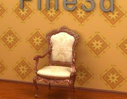 Carved Chair 3D model