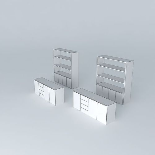 Kitchen Shelves Habitat: Storage Shelves Habitat Aspen 3D Model MAX OBJ 3DS FBX STL