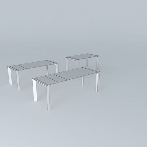 Table kristalia nori 3d model max obj 3ds fbx stl for Table kristalia