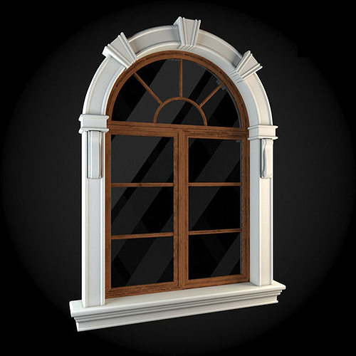 window 3d model max obj mtl fbx 1