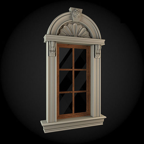 window 3d model max obj fbx 1