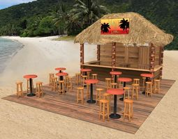 3D model Kiosk on the beach