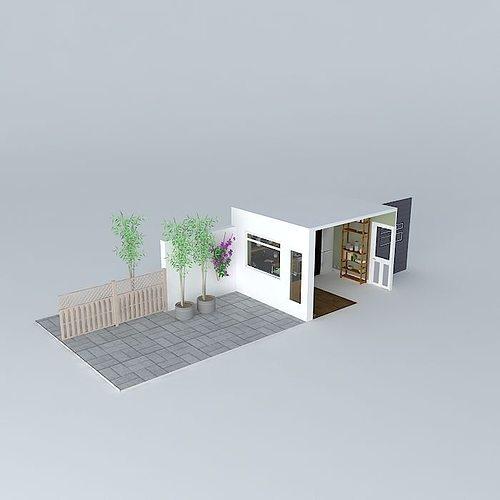 3d model kettle kitchen set cgtrader for Kitchen set 3ds max