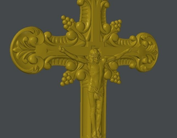 3d asset cross christ low-poly