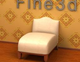Cushioned Chair 3D model