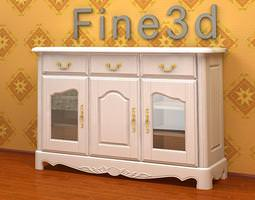white cupboard 3d model