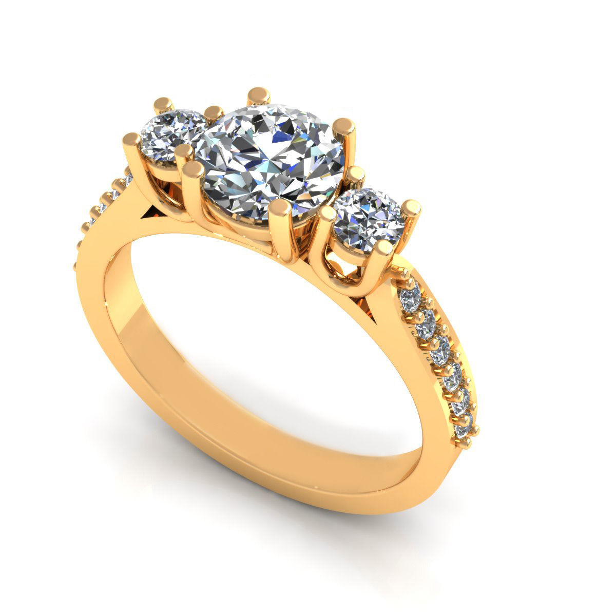 gold engagement ring rings friendship women love mainwh stone for infinite diamond and