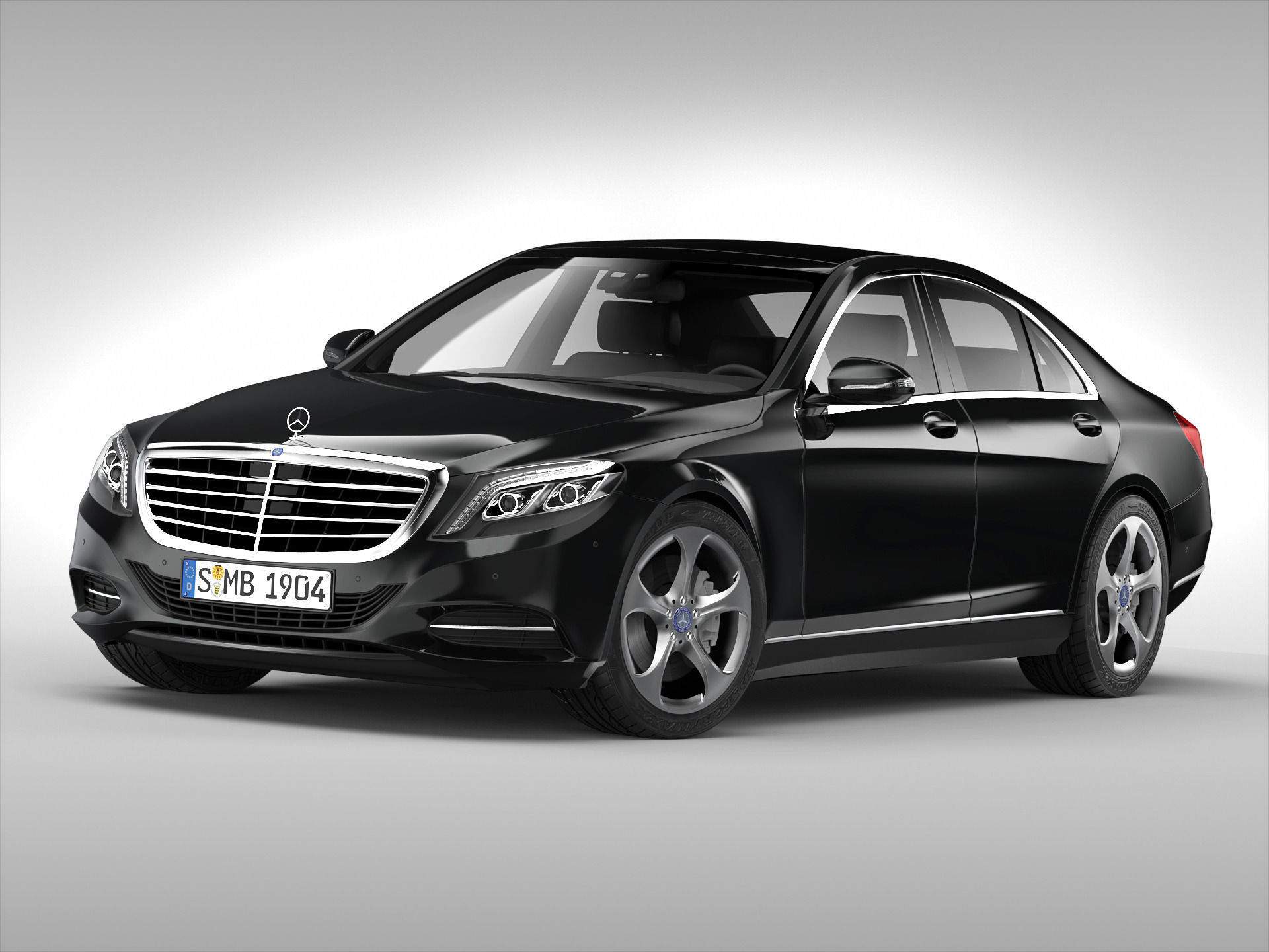 mercedes benz s class 2014 3d model max obj 3ds fbx