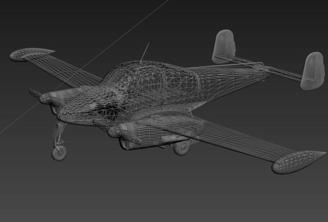 Simple plane 3d model max Simple 3d modeling online