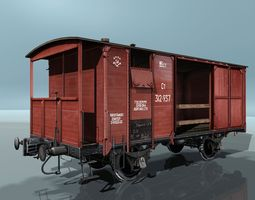 Covered Boxcars NTV 3D asset
