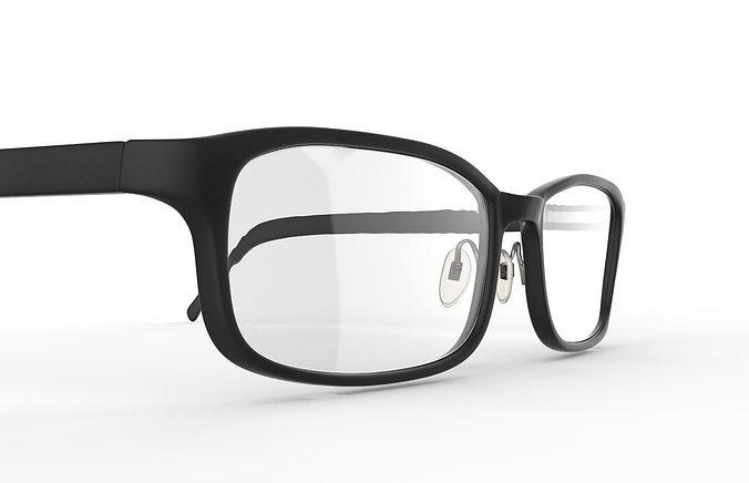 eyeglasses printables 3d model obj mtl stl ztl 1