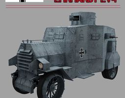 ehrardt  e-v 4   armoured car 3d model max obj mtl