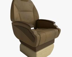 aircraft seat 3d rigged