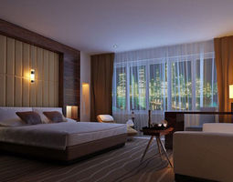 3d realistic hotel room 5