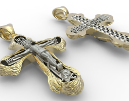 Orthodox cross 3D print model