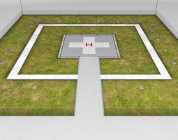 helipad square ground 3d model max obj 3ds fbx mtl