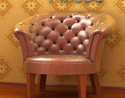 3D Cushioned and patched armchair