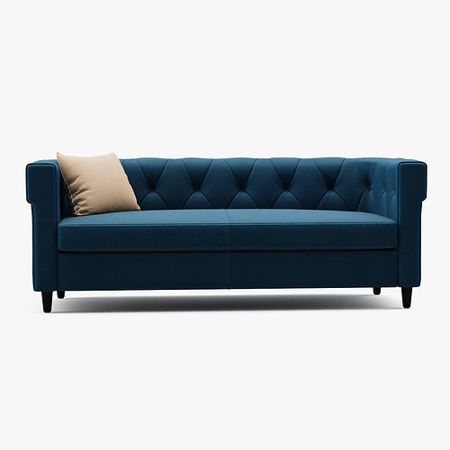 Chester tufted upholstered sofa 3d model cgtrader for Edit 03 sofa
