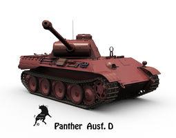 panther ausf d 3d model max obj fbx