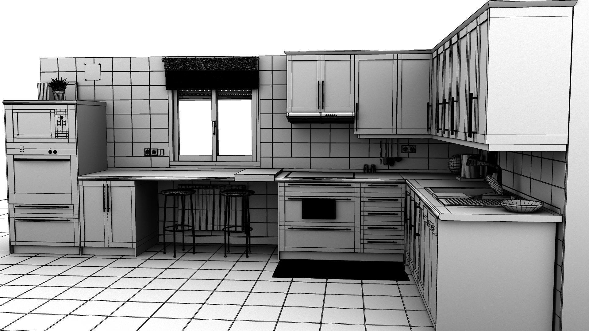 Kitchen Hd Res 3d Cgtrader