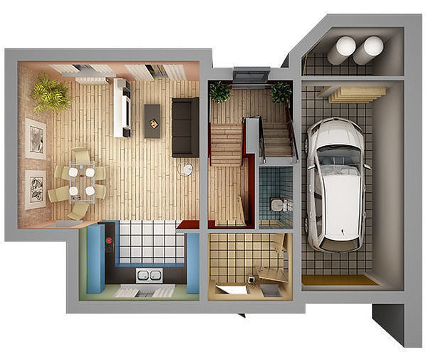 3d model home interior floor plan 01 cgtrader Interior house plans