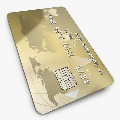 customizable credit card 3d model c4d 1