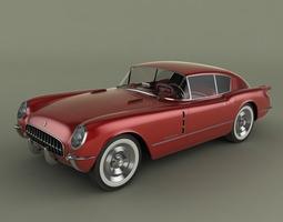chevrolet corvette corvair concept 3d model max obj 3ds