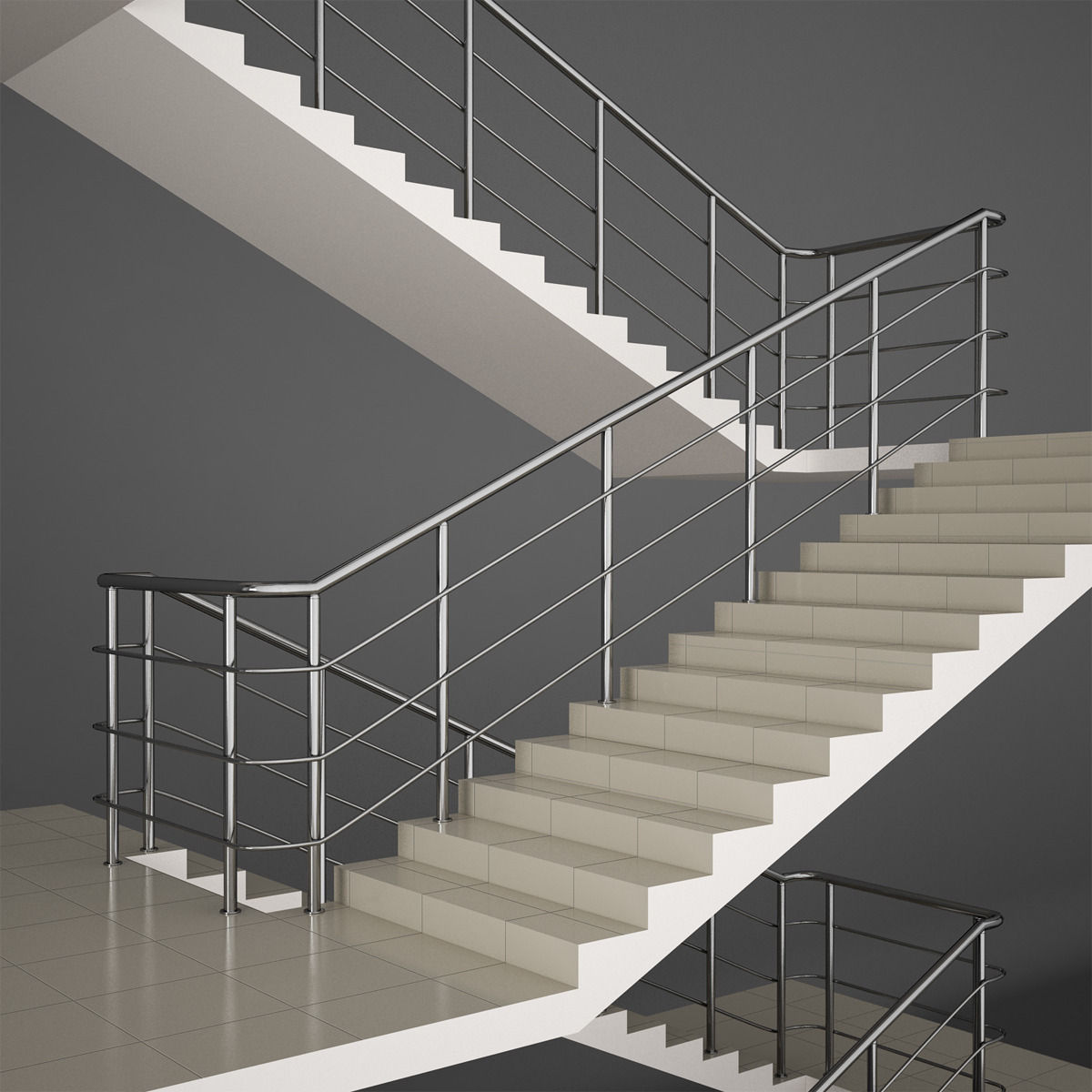 office stairs 3d model max obj fbx mtl 1 ...