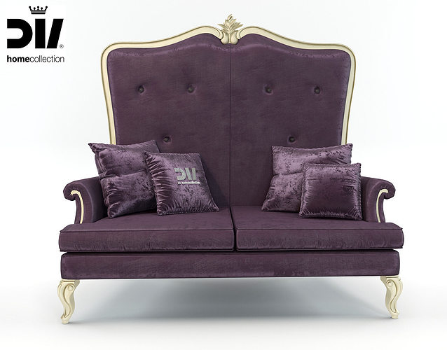 High Back Clic Elegant Sofa By Dv Home Collection Model