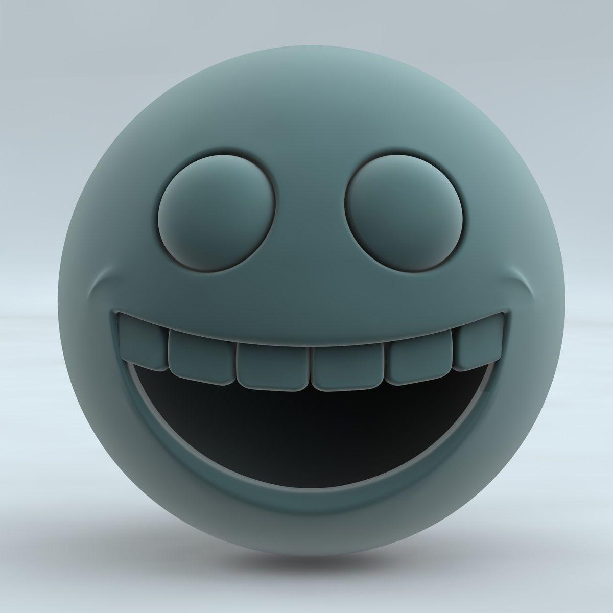 Smiley Face 3D Model OBJ 3DS FBX C4D | CGTrader.com