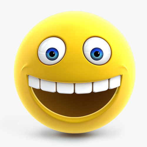smiley face 3d model cgtrader