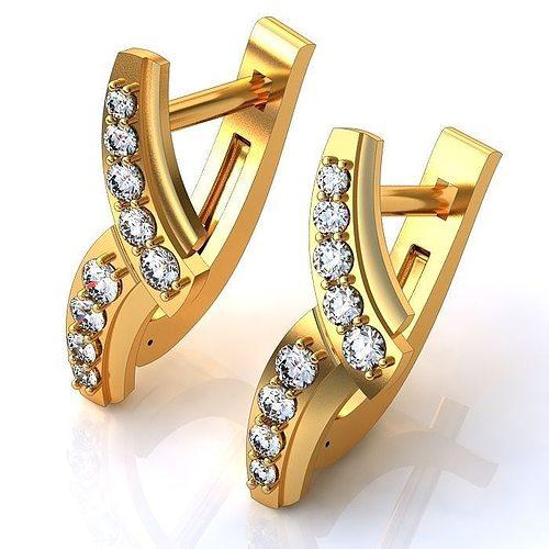 luxurious earrings 3d model 3dm 1