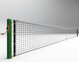 tennis court net high detail 3d model