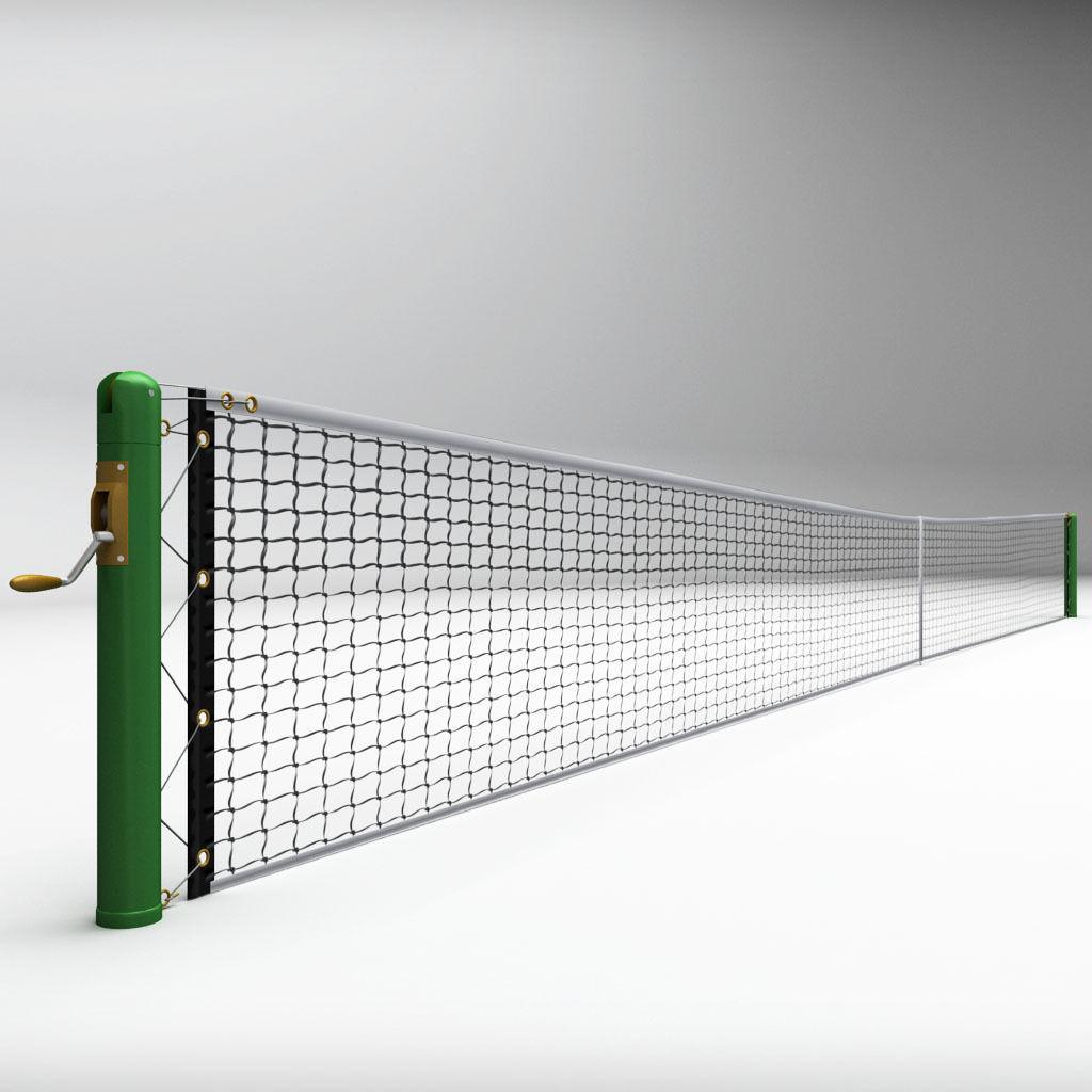 Tennis court net high detail