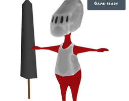 Red Knight Toon 3D Model